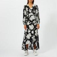 Ganni-Womens-Kochhar-Print-Long-Dress-Black-EU-36UK-8-Black