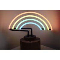 Gingersnap Large Neon Rainbow Table Lamp - Cork Base