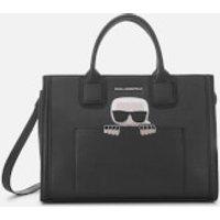 shop for Karl Lagerfeld Women's K/Ikonik Kklassik Tote Bag - Black at Shopo