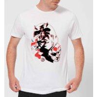 Marvel Knights Daredevil Layered Faces Mens T-Shirt - White - XXL - White