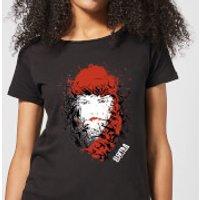 Marvel Knights Elektra Face Of Death Womens T-Shirt - Black - XS - Black