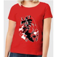 Marvel Knights Daredevil Layered Faces Women's T-Shirt - Red - L - Red