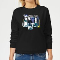 Marvel Knights Jessica Jones Comic Panels Women's Sweatshirt - Black - XXL - Black - Comic Gifts
