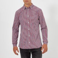 Tommy Jeans Men's TJM Essential Check Long Sleeve Shirt - Samba - S - Red