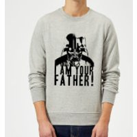 Star Wars Darth Vader I Am Your Father Confession Sweatshirt - Grey - L - Grey