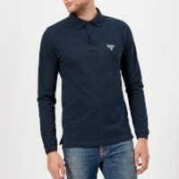 Barbour Men's Beacon Long Sleeve Polo Shirt - Navy - S - Navy