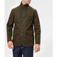 Barbour Men's Lutz Wax Jacket - Olive - XXL - Green