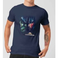 Marvel Thor Ragnarok Hulk Split Face Men's T-Shirt - Navy - L - Navy