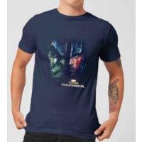 Marvel Thor Ragnarok Hulk Split Face Mens T-Shirt - Navy - XL - Navy