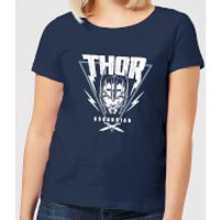 Marvel Thor Ragnarok Asgardian Triangle Women's T-Shirt - Navy - S - Navy - Thor Gifts