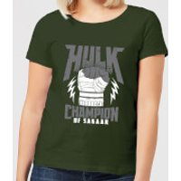Marvel Thor Ragnarok Hulk Champion Women's T-Shirt - Forest Green - L - Forest Green - Thor Gifts