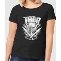 Marvel Thor Ragnarok Thor Hammer Logo Women's T-Shirt - Black - XS - Black
