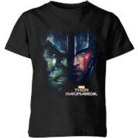 Marvel Thor Ragnarok Hulk Split Face Kids' T-Shirt - Black - 3-4 Years - Black