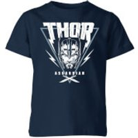 Marvel Thor Ragnarok Asgardian Triangle Kids' T-Shirt - Navy - 7-8 Years - Navy - Navy Gifts