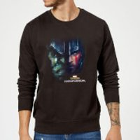 Marvel Thor Ragnarok Hulk Split Face Sweatshirt - Black - XXL - Black - Superhero Gifts