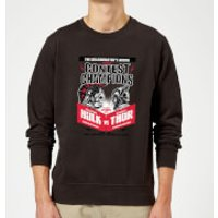 Marvel Thor Ragnarok Champions Poster Sweatshirt - Black - L - Black