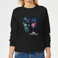 Marvel Thor Ragnarok Hulk Split Face Women's Sweatshirt - Black - 5XL - Black - Hulk Gifts