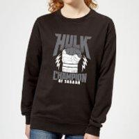 Marvel Thor Ragnarok Hulk Champion Women's Sweatshirt - Black - 5XL - Black - Hulk Gifts