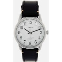 Timex Mens Easy Reader 40th Anniversary Special Edition Leather Strap Watch - Silver-Tone/Brown/Blue