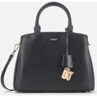 DKNY Womens Paige Medium Satchel - Black/Gold