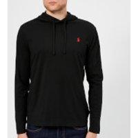 Polo Ralph Lauren Men's Hooded Long Sleeve T-Shirt - RL Black - XXL - Black