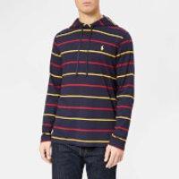Polo Ralph Lauren Men's Stripe Hooded Long Sleeve T-Shirt - Ink Multi - XXL - Blue