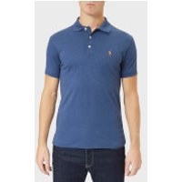 Polo Ralph Lauren Men's Pima Short Sleeve Polo Shirt - Rustic Navy Heather - XXL - Navy