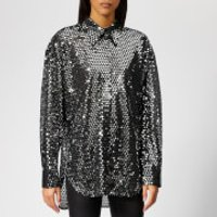MSGM-Womens-Sequin-Shirt-Silver-IT-44UK-12-Silver