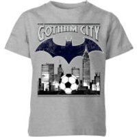 DC Batman Football Gotham City Kids' T-Shirt - Grey - 11-12 Years - Grey - Football Gifts