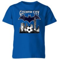 DC Batman Football Gotham City Kids' T-Shirt - Royal Blue - 3-4 Years - royal blue - Football Gifts