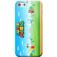 Nintendo Super Mario Full World Smartphone Hülle - Samsung S6 - Snap Hülle Matt