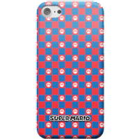 Nintendo Super Mario Checkerboard Pattern Phone Case - iPhone 7 Plus - Snap Case - Gloss