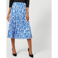Whistles Women's Cordillia Print Pleated Skirt - White/Multi - UK 6 - White