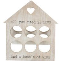 Sass & Belle Rustic Wine Rack For 6 Bottles - Kitchen Gifts