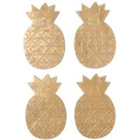 Sass & Belle Set Of 4 Gold Pineapple Coasters - Kitchen Gifts