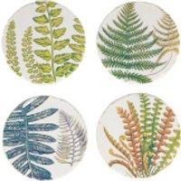 Sass & Belle Set Of 4 Botanical Fern Round Coasters - Kitchen Gifts