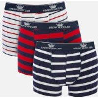 Joules Men's Crown Joules 3 Pack Boxer Shorts - Stripe - M - Multi