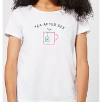 Tea After Sex Women's T-Shirt - White - L - White - Tea Gifts