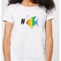 Rainbow Fish Bubble Women's T-Shirt - White - XXL - White - Fish Gifts