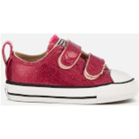 Converse Toddlers' Chuck Taylor All Star 2V Ox Trainers - Pink Pop/Natural/White - UK 5 Toddler - Re
