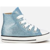 Converse Toddlers Chuck Taylor All Star Hi-Top Trainers - Light Blue/Natural/White - UK 2 Toddler - Blue
