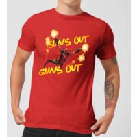 Marvel Deadpool Suns Out Guns Out Men's T-Shirt - Red - XXL - Red