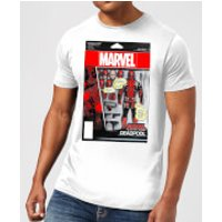 Marvel Deadpool Action Figure Mens T-Shirt - White - M - White