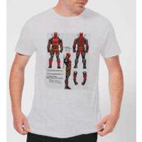 Marvel Deadpool Action Figure Plans Men's T-Shirt - Grey - L - Grey
