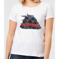 Marvel Deadpool Sword Logo Women's T-Shirt - White - M - White