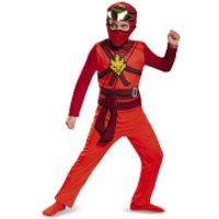 LEGO Ninjago Movie Kids' Kai Classic Fancy Dress Jumpsuit - Red - S/4-6 Years - Red