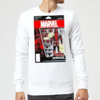 Marvel Deadpool Action Figure Sweatshirt - White - XXL - White - Action Gifts