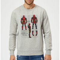 Marvel Deadpool Action Figure Plans Sweatshirt - Grey - XL - Grey - Action Gifts