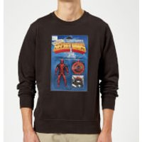 Marvel Deadpool Secret Wars Action Figure Sweatshirt - Black - M - Black