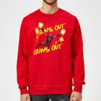 Marvel Deadpool Suns Out Guns Out Sweatshirt - Red - XL - Red